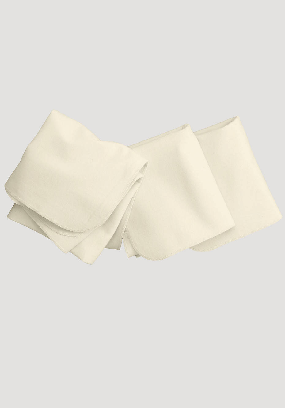 Molton cloth 3-pack made of pure organic cotton