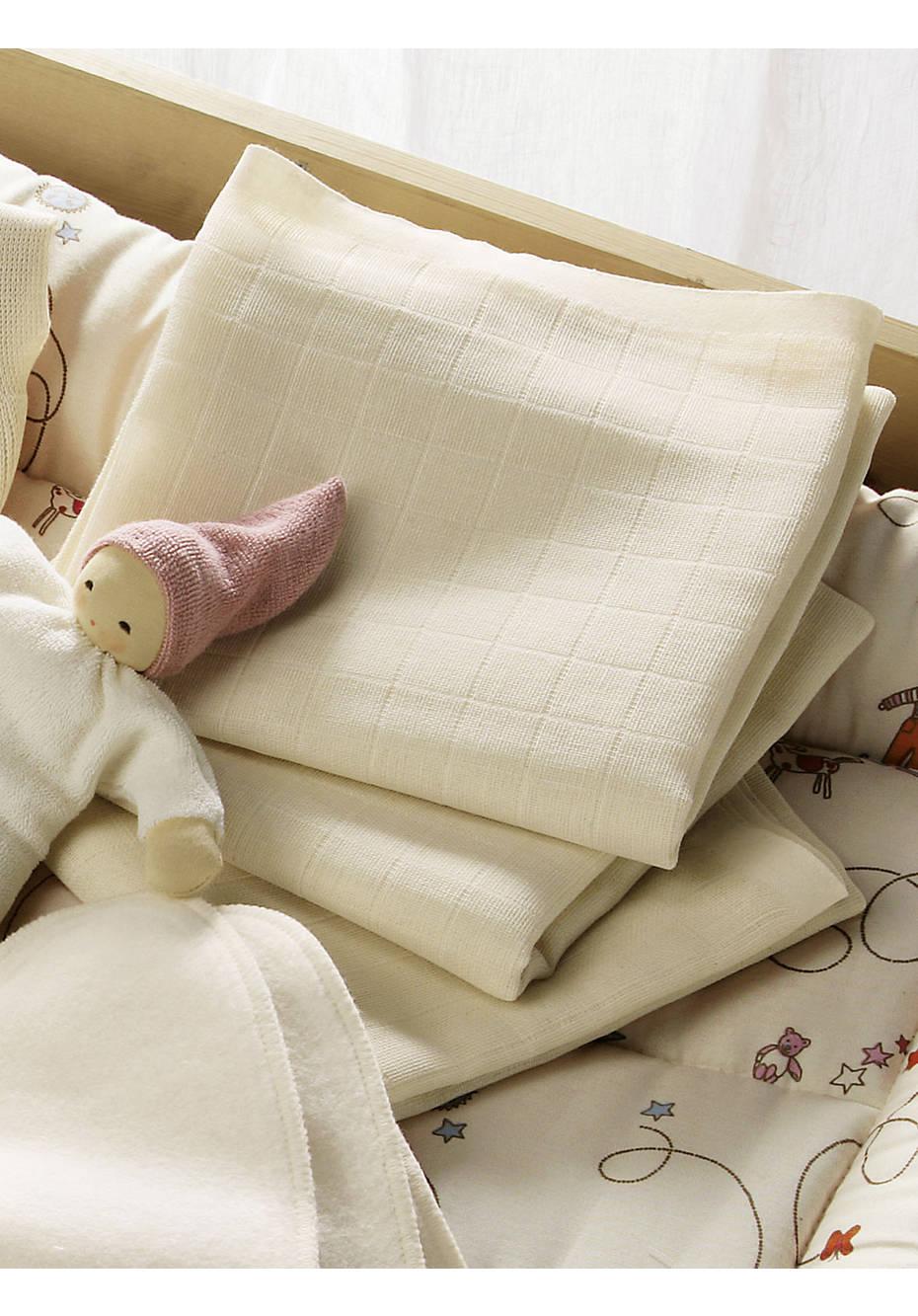 Mullwindel im 3er-Pack aus reiner Bio-Baumwolle