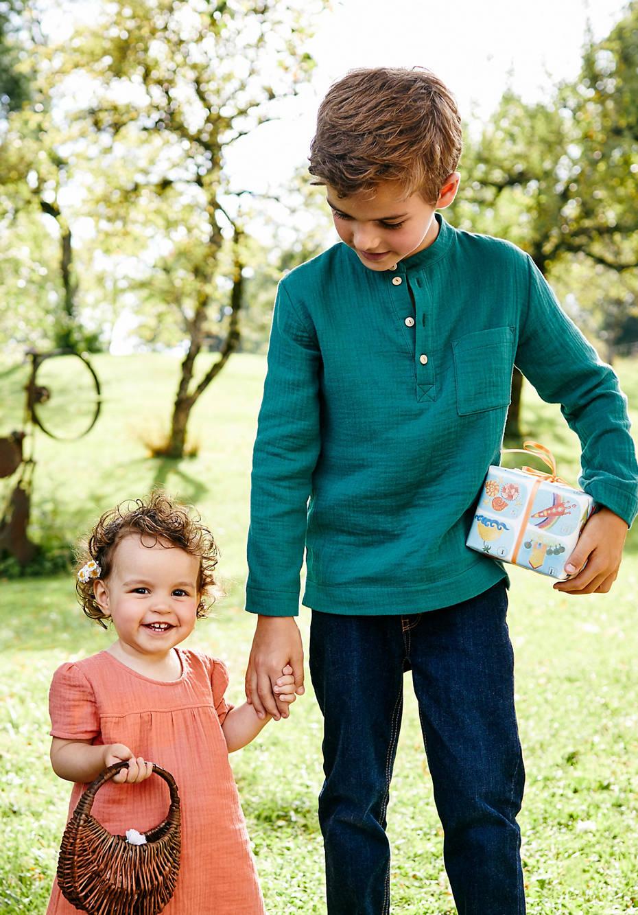 Musselin-Hemd aus reiner Bio-Baumwolle