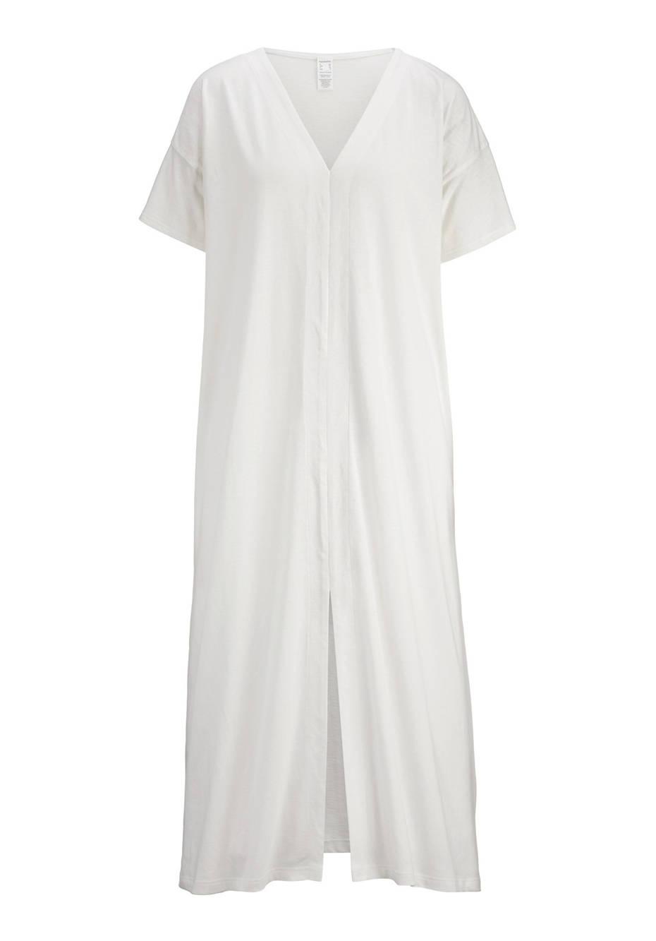 Nachthemd aus Bio-Baumwolle mit Leinen
