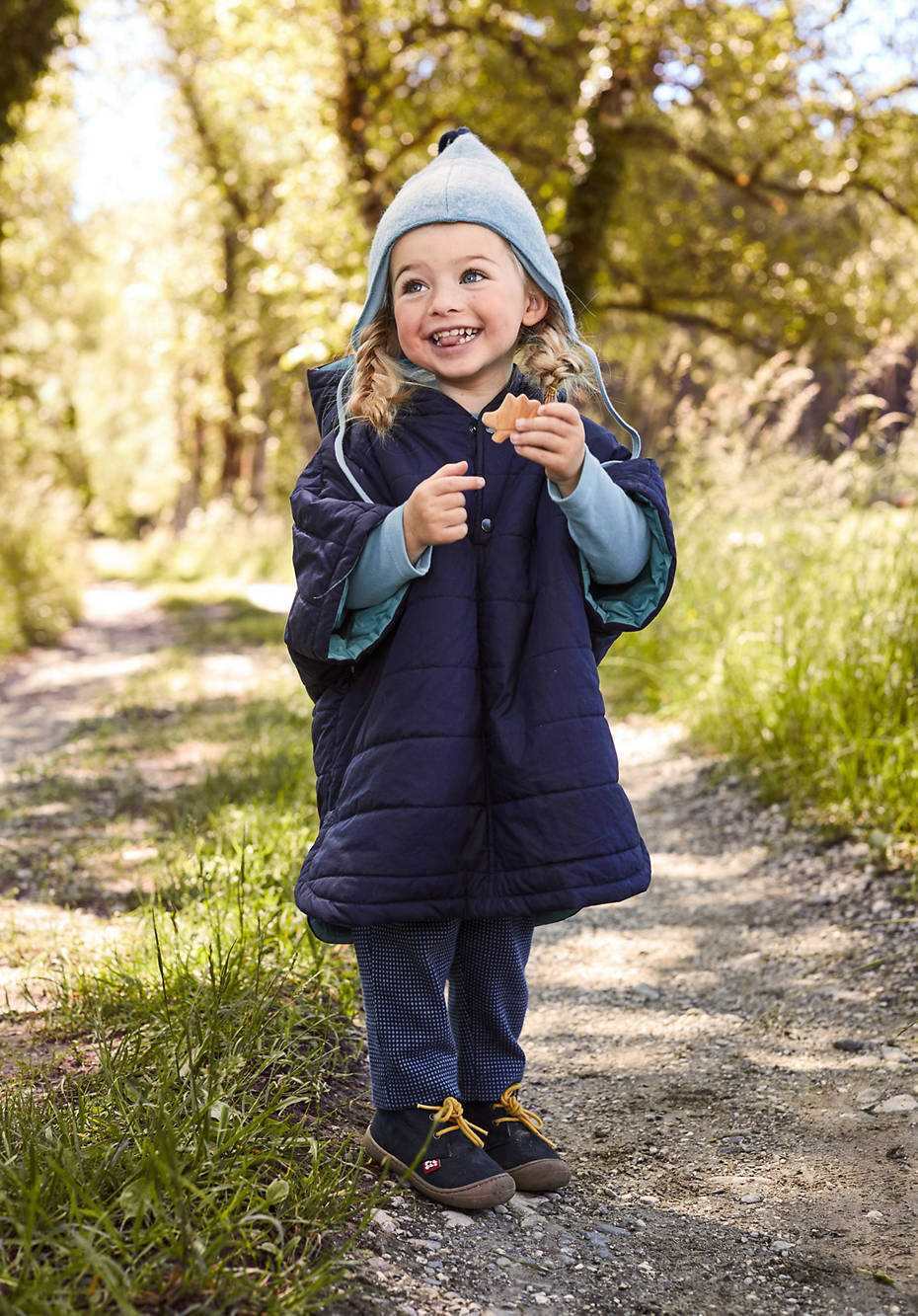 Nature-Shell poncho with ecological impregnation