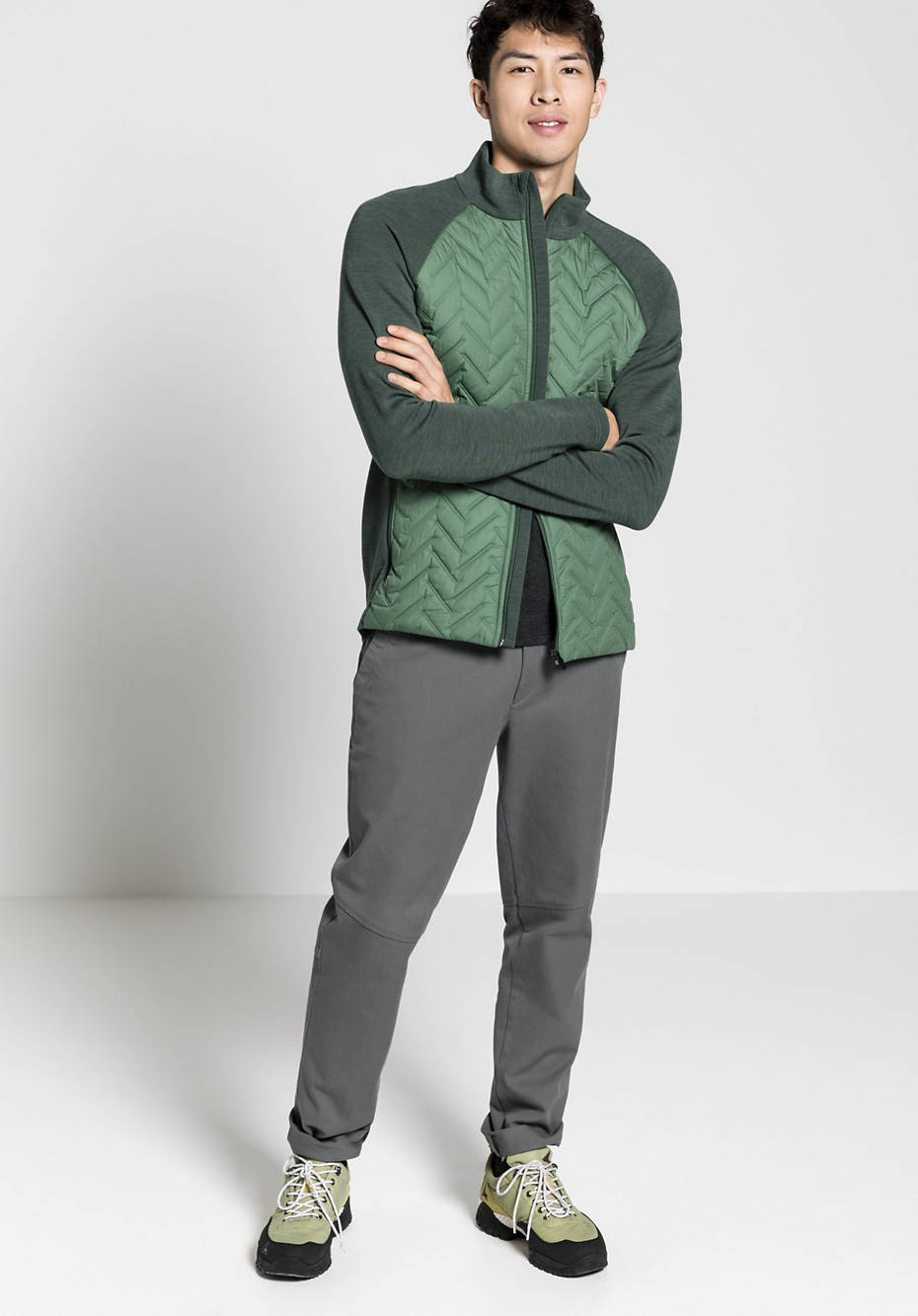 Nature Shell quilted jacket made of organic merino wool with organic cotton