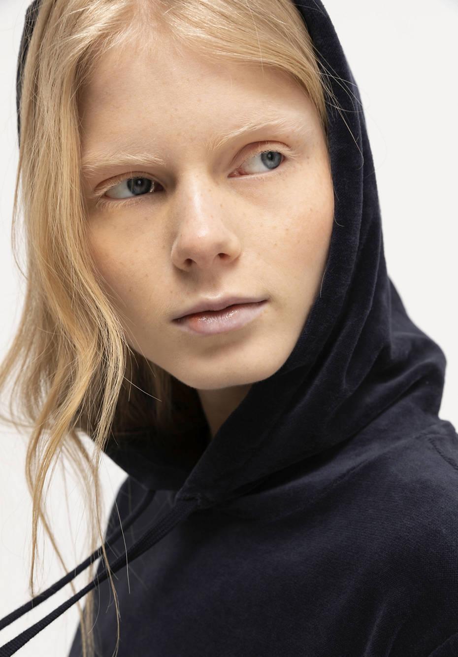 Nicki-Hoodie aus reiner Bio-Baumwolle