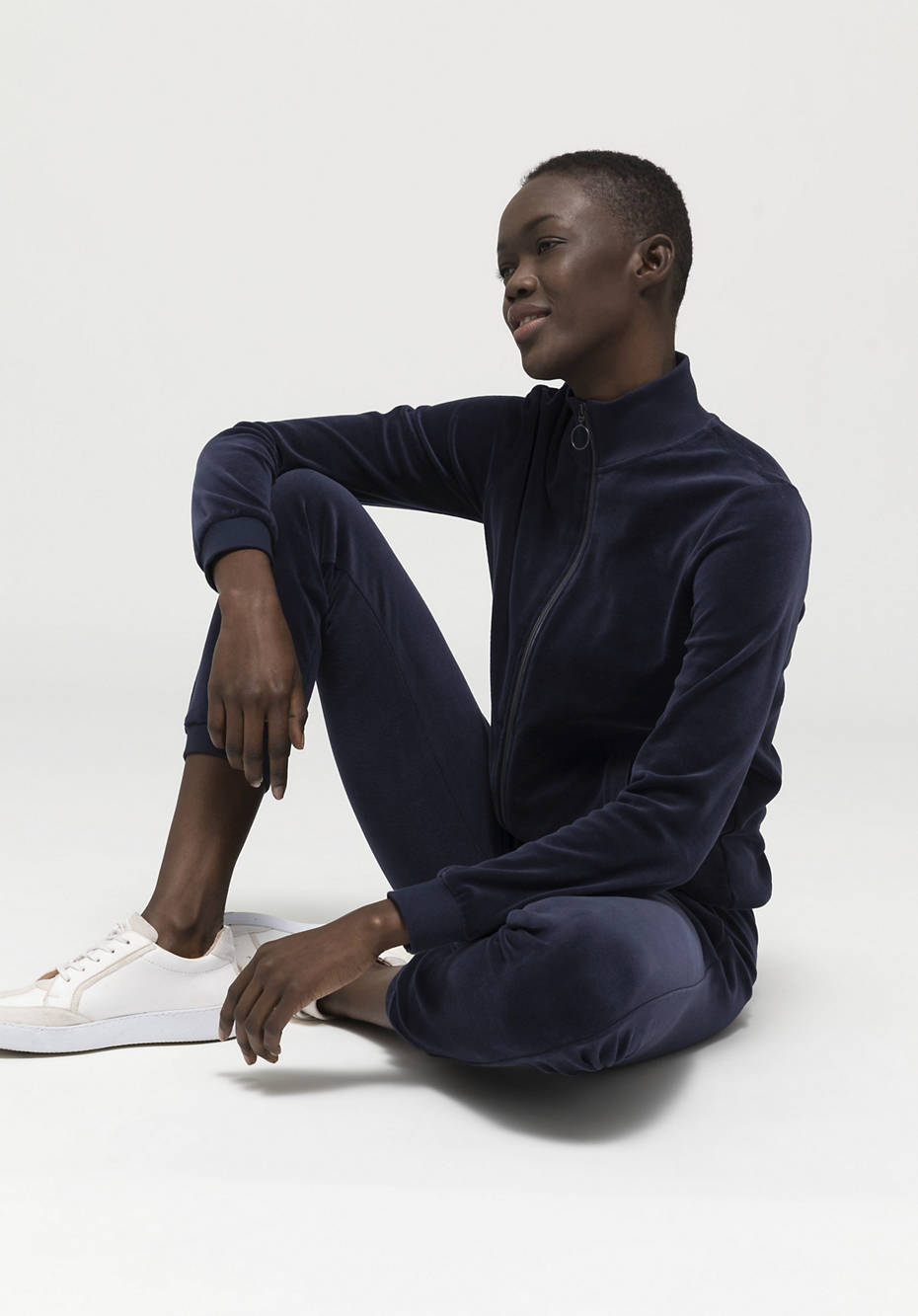 Nicki-Jacke aus reiner Bio-Baumwolle