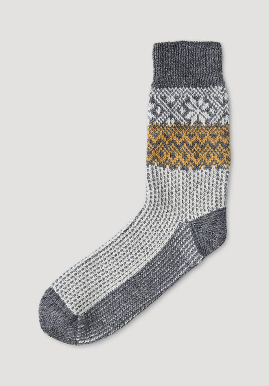 Norwegian sock made from pure organic merino wool