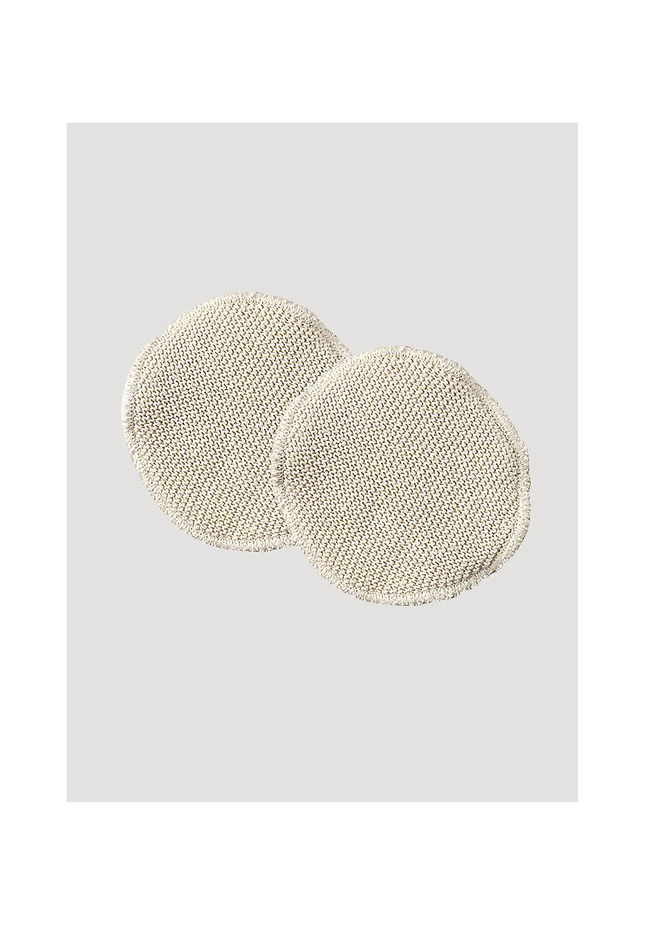 Nursing pads made of silk with organic new wool
