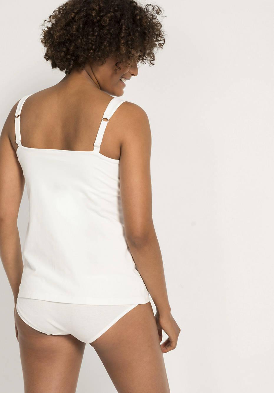 Nursing top made of organic cotton