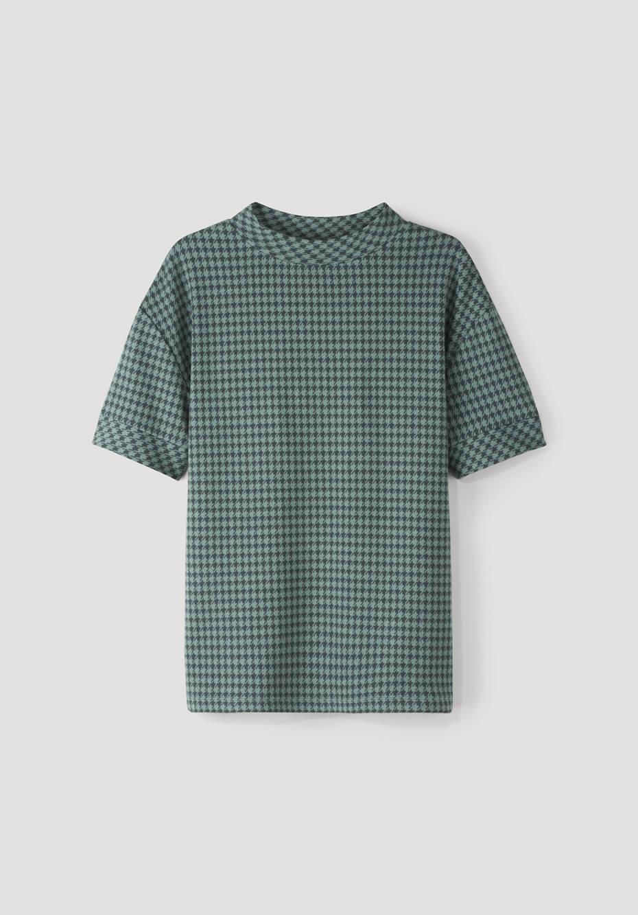 Organic cotton jacquard shirt