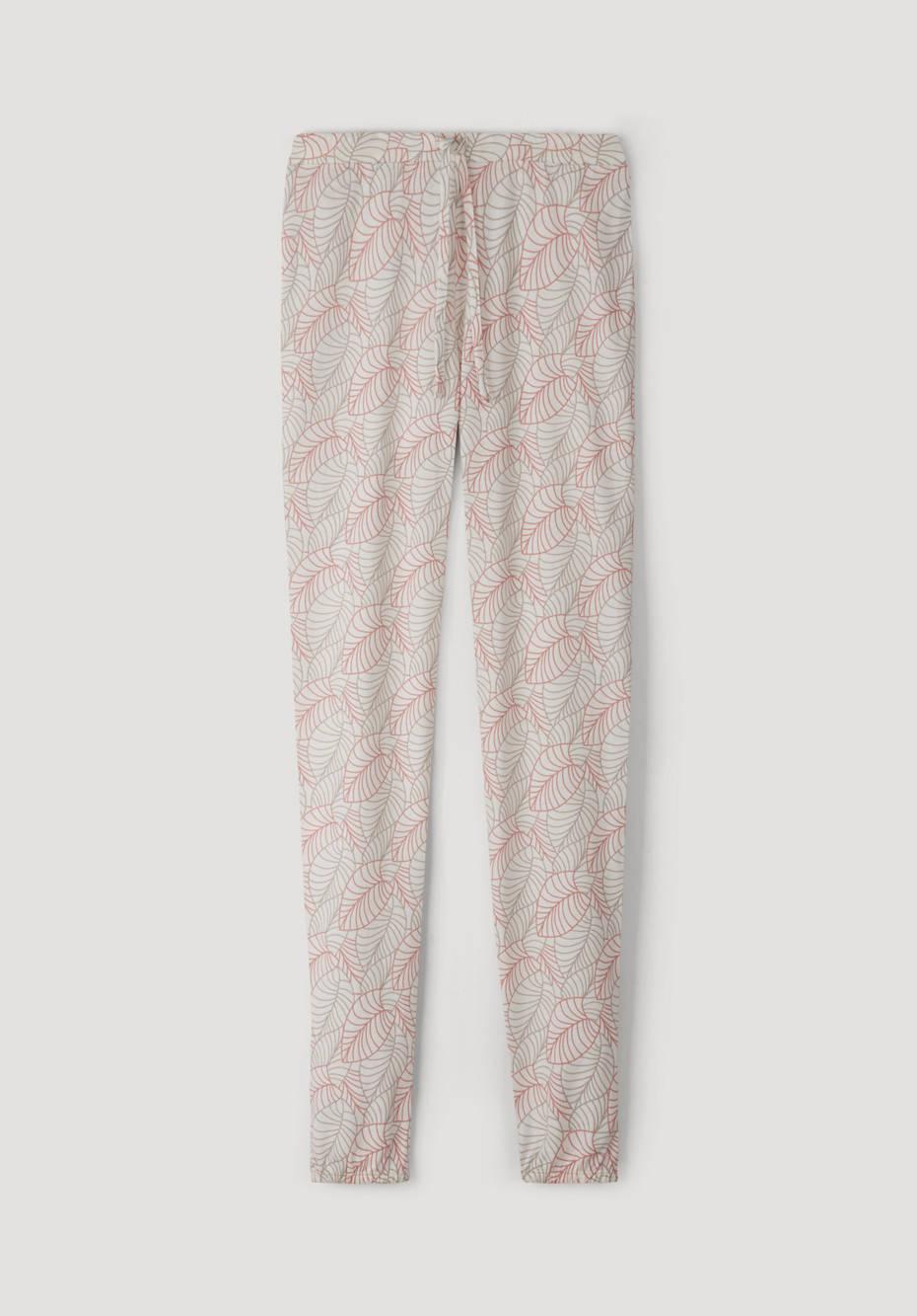 Organic cotton pajama pants with silk