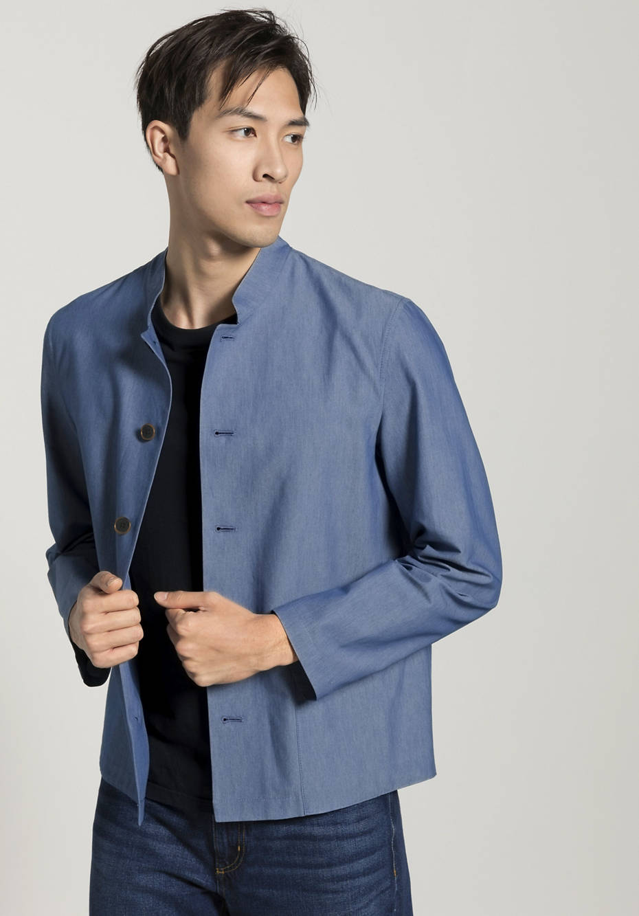 Overshirt made from banana fibers with organic cotton