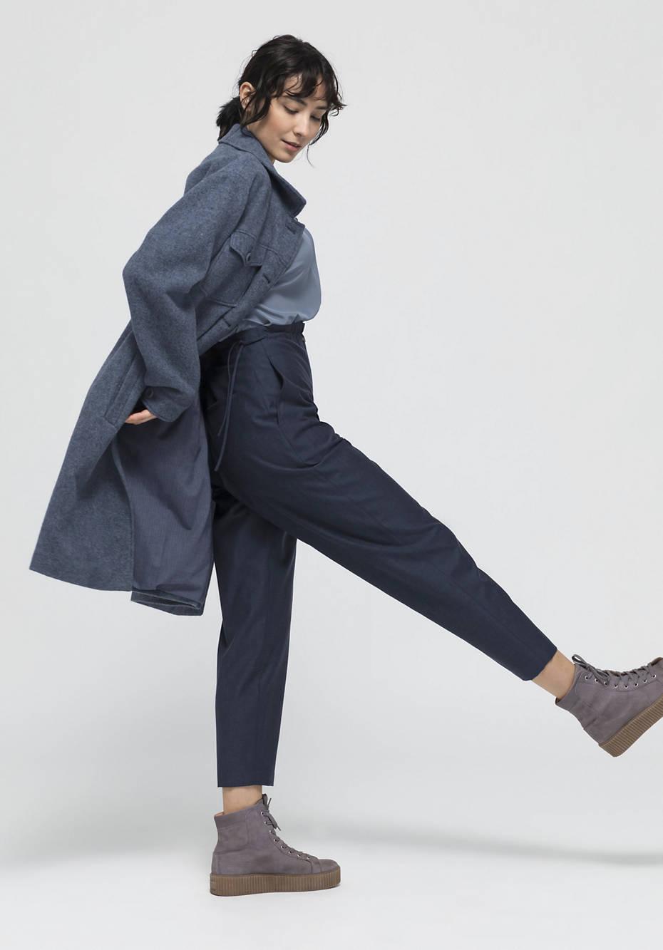 Pants made of organic merino wool with organic cotton