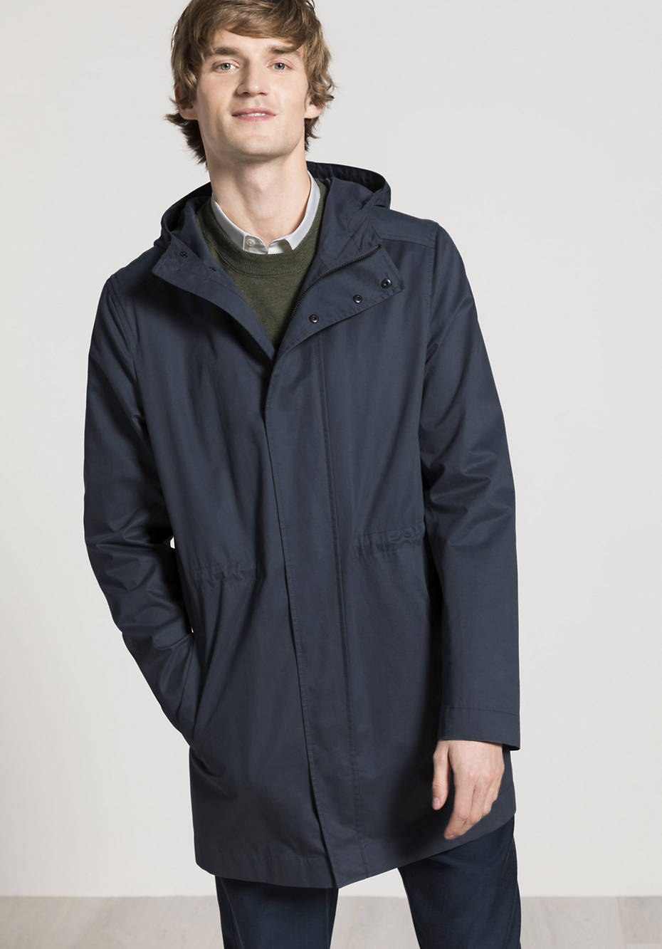 Parka Nature Shell made from pure organic cotton