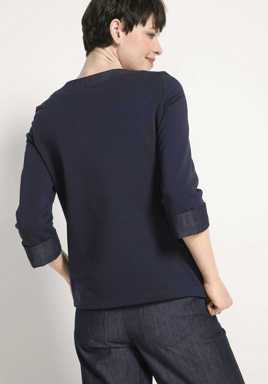Patch-Shirt aus Bio-Baumwolle