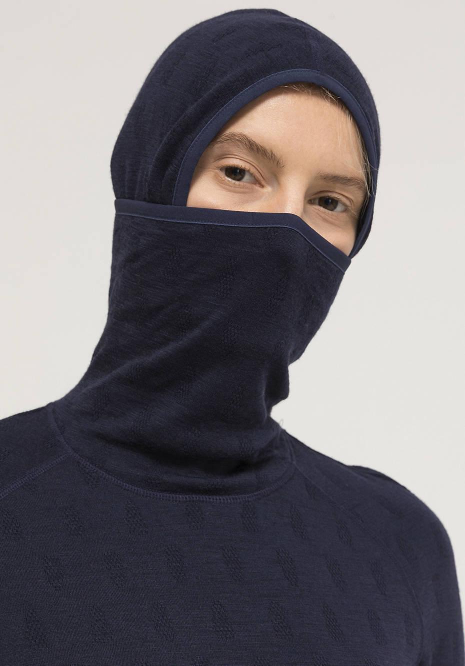 Performance-Hoodie aus reiner Bio-Merinowolle
