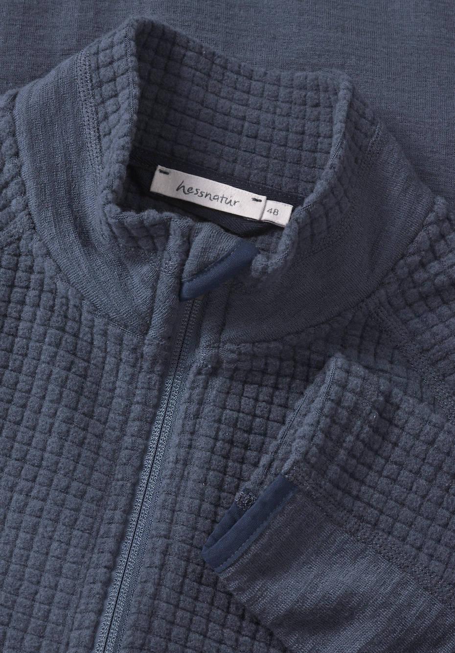 Performance fleece jacket made from pure organic merino wool