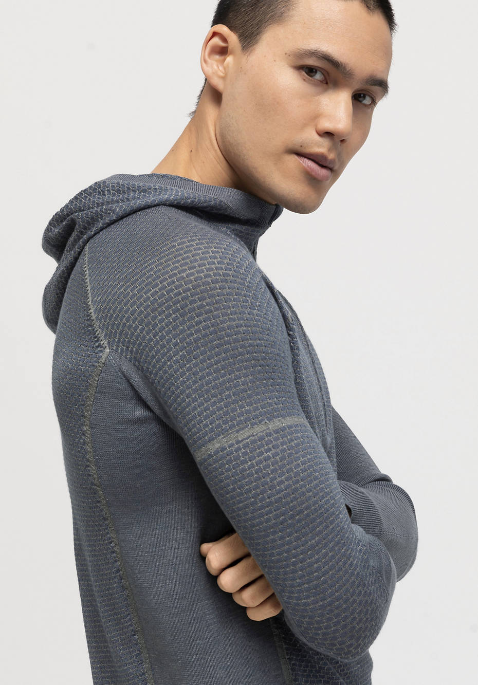 Performance knitted shirt BetteRecycling made of merino wool with silk