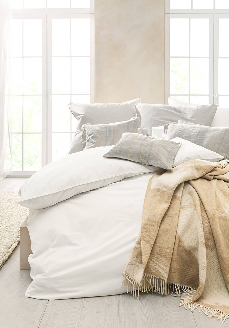 Perkal-Bettwäsche aus reiner Bio-Baumwolle