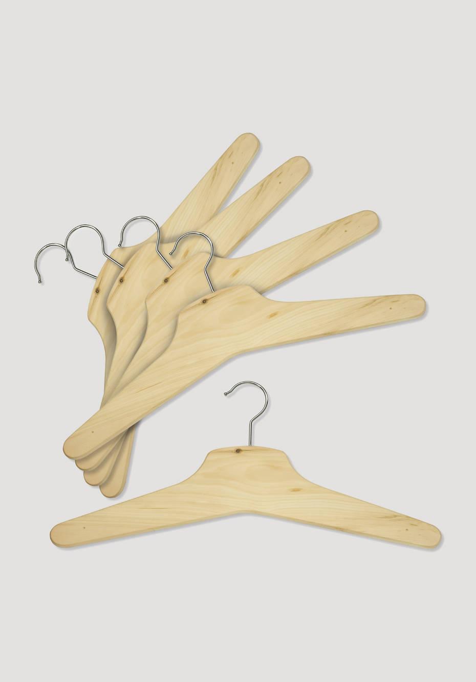 Pine clothes hangers