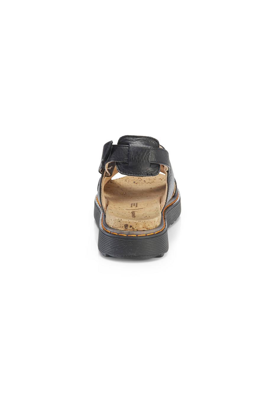 Plateau-Sandale aus chromfrei gegerbtem Leder