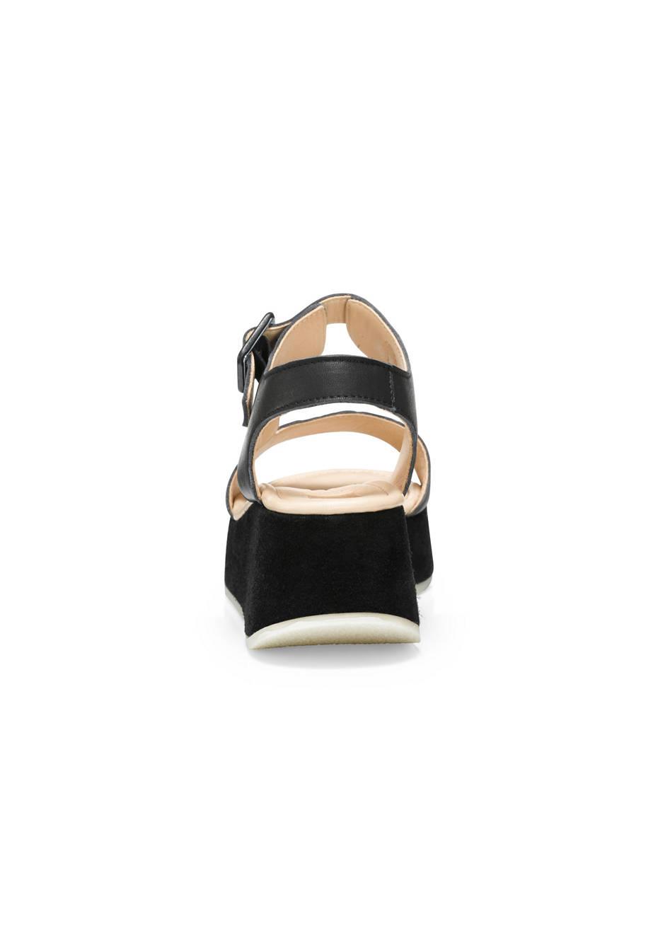 Plateau-Sandalette aus Leder