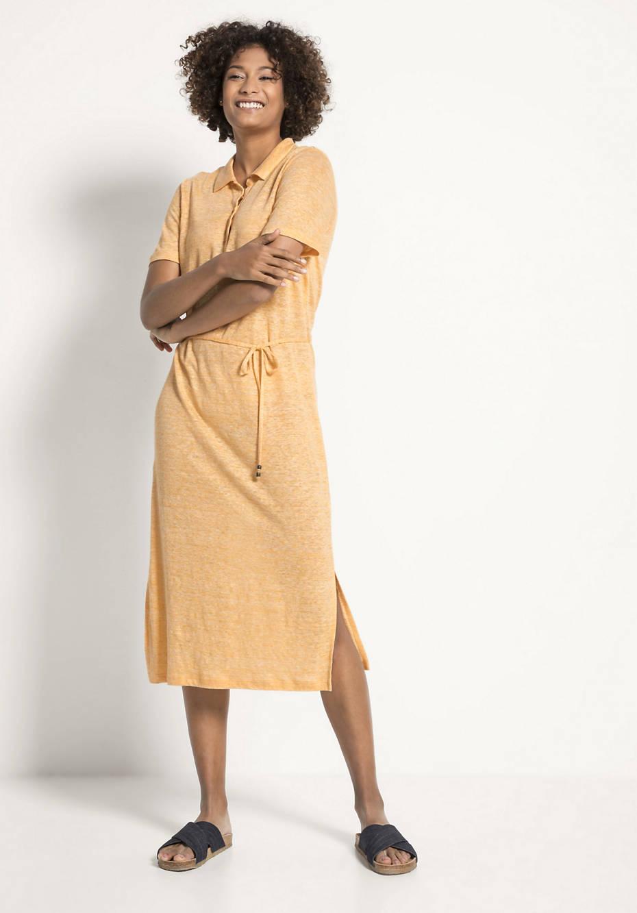 Polo-Kleid aus reinem Leinen