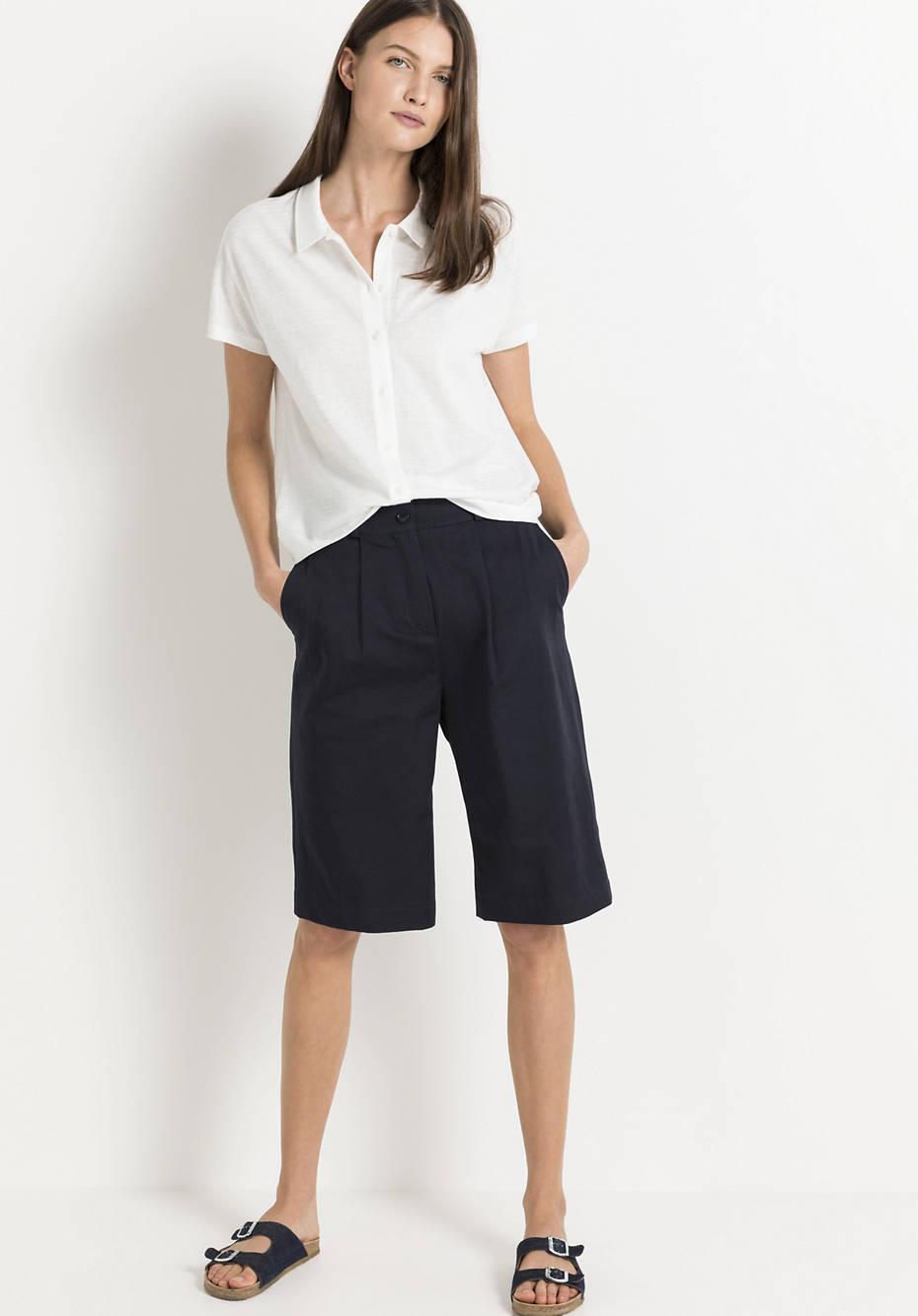 Polo-Shirt aus Bio-Baumwolle mit Hanf