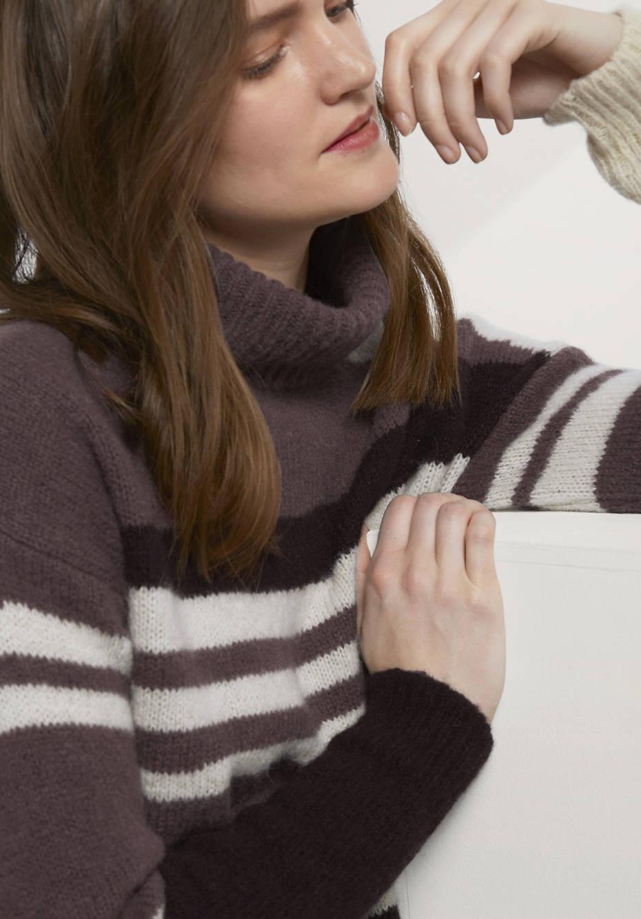 Pullover aus Alpaka mit Mohair und Seide