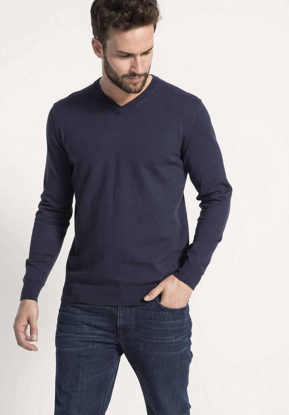 Pullover aus Bio-Baumwolle mit Yakwolle