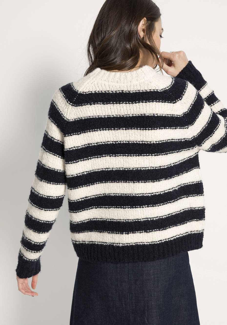 Pullover aus Schurwolle mit Alpaka