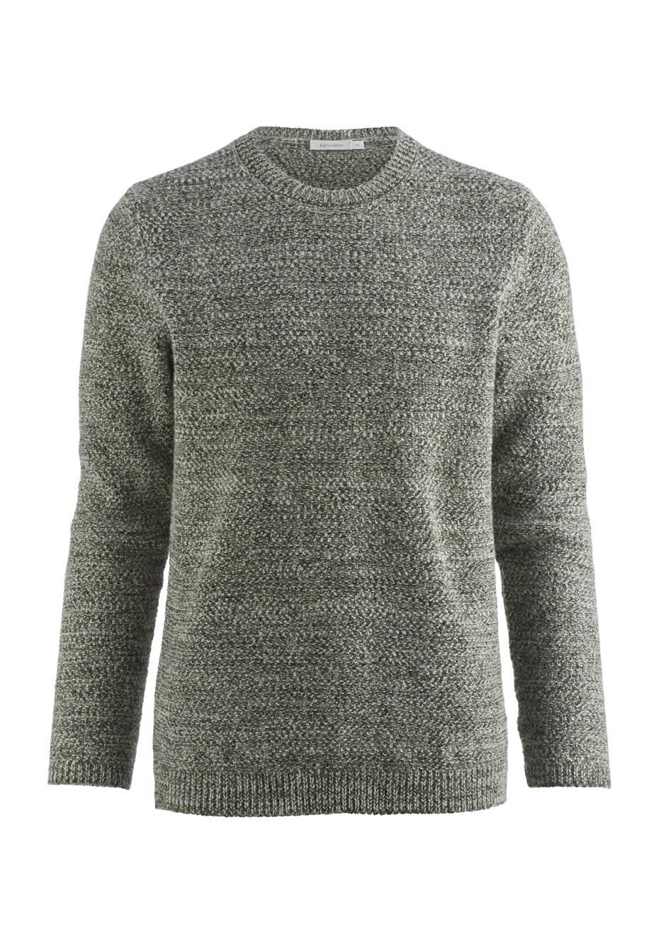 Pullover aus Schurwolle mit Alpaka, Leinen und Baumwolle