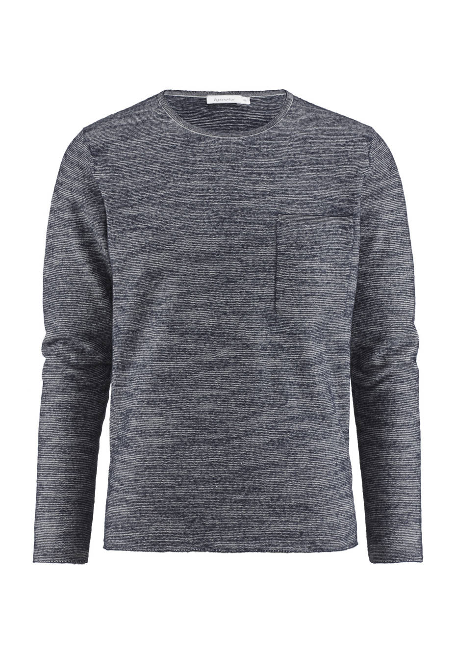 Pullover aus Schurwolle mit Leinen und Bio-Baumwolle