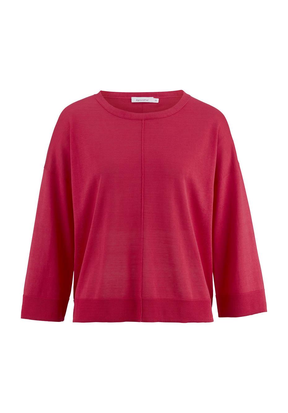 Pullover aus Seide mit Bio-Baumwolle