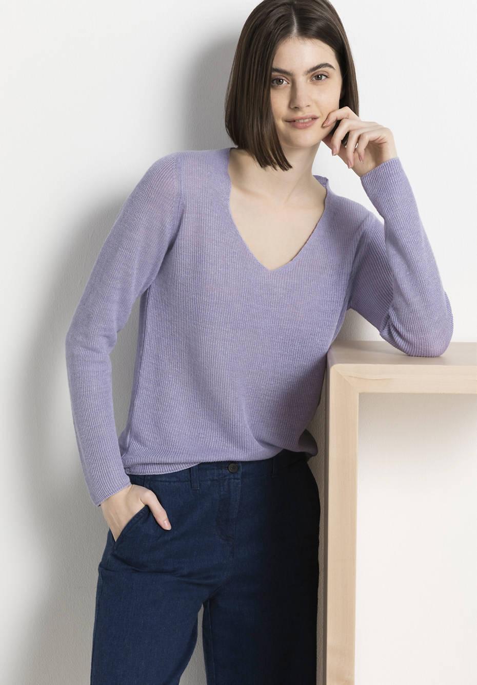 Pullover aus reinem Bio-Leinen