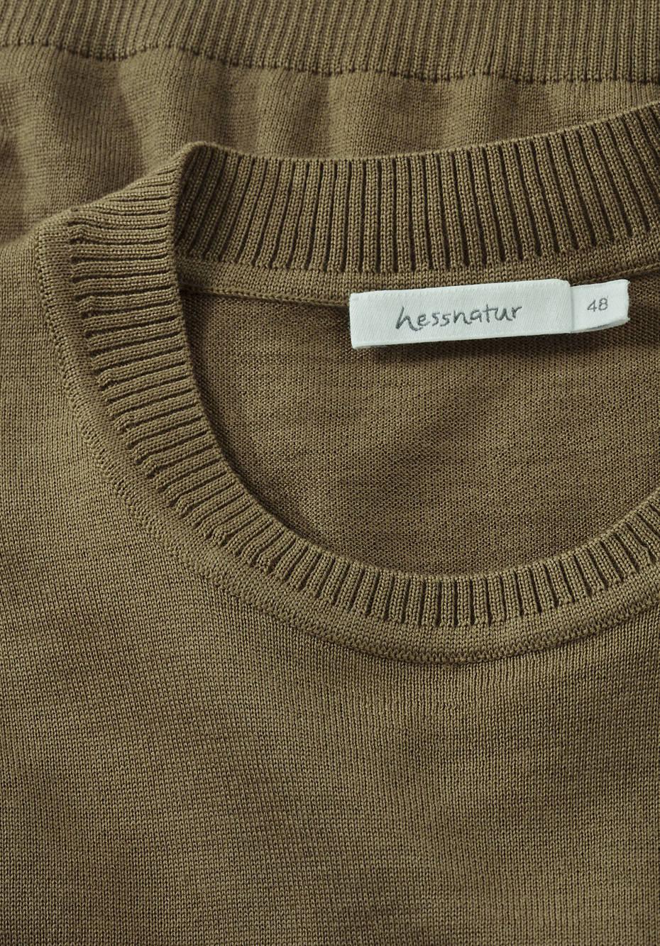 Pullover pflanzengefärbt aus reiner Merinowolle