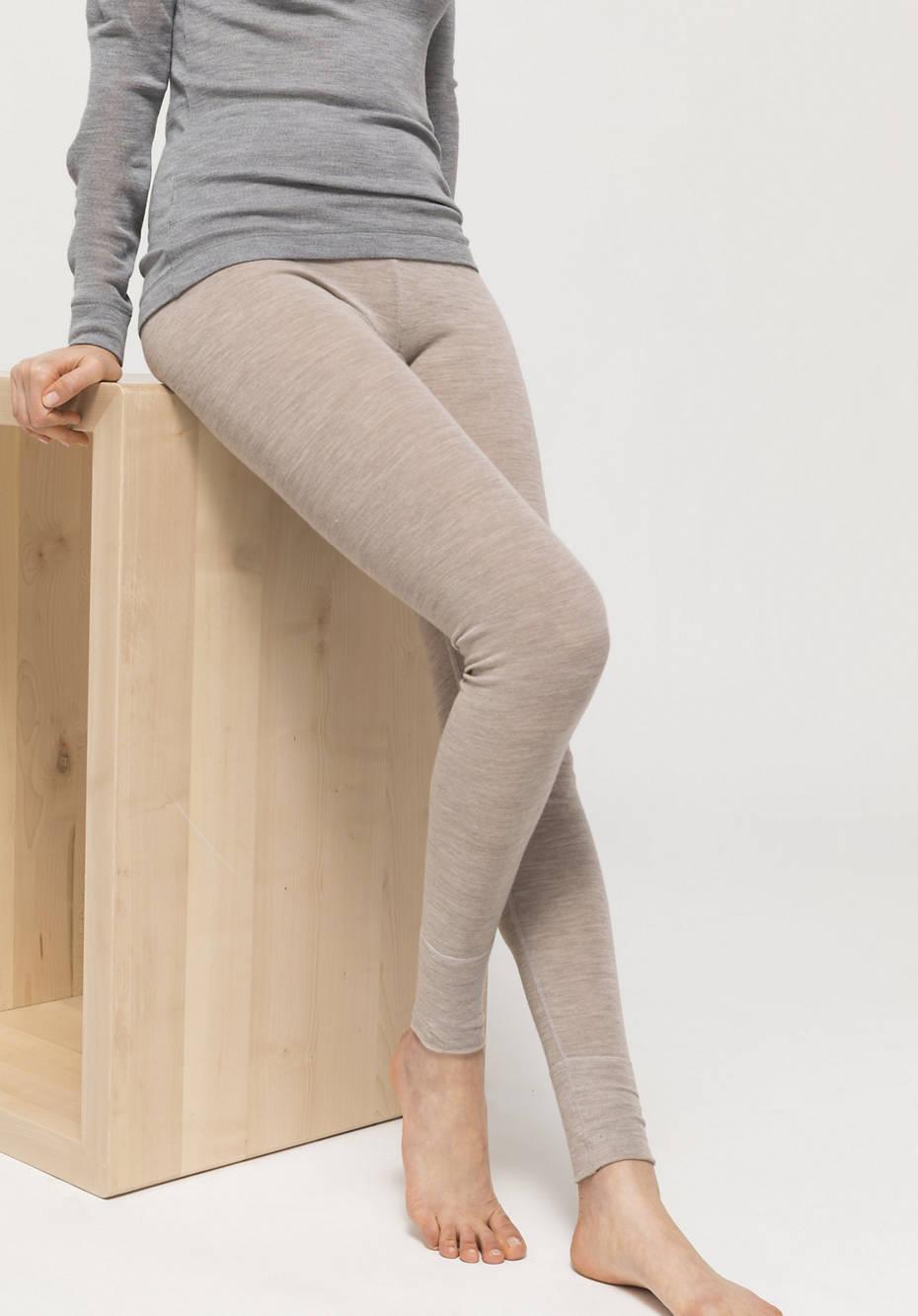 PureMIX long pants made of organic merino wool with silk
