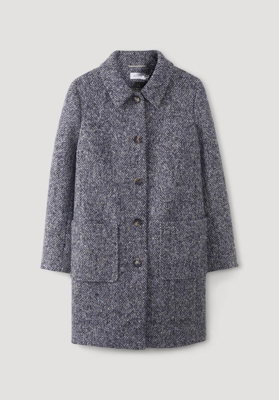 Pure merino wool coat