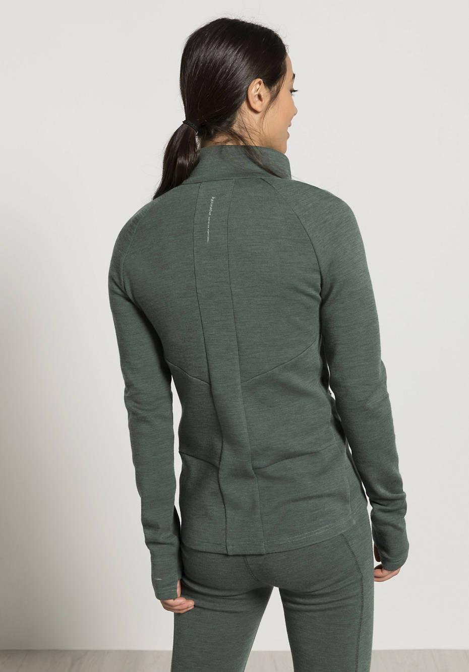 Quilted jacket made of organic merino wool, kapok and organic cotton