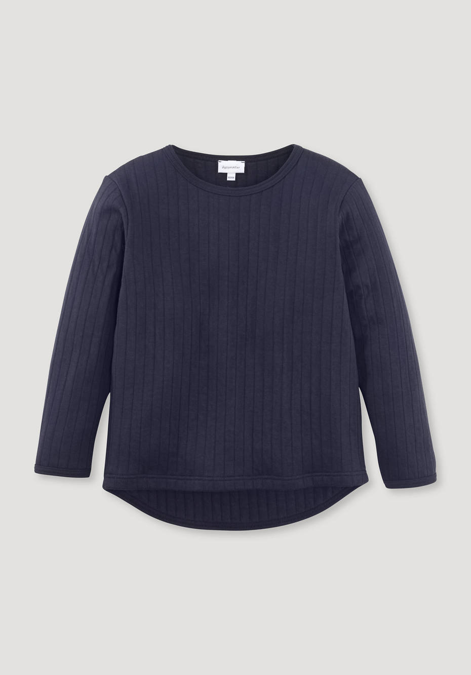 Quilted sweatshirt made of pure organic cotton