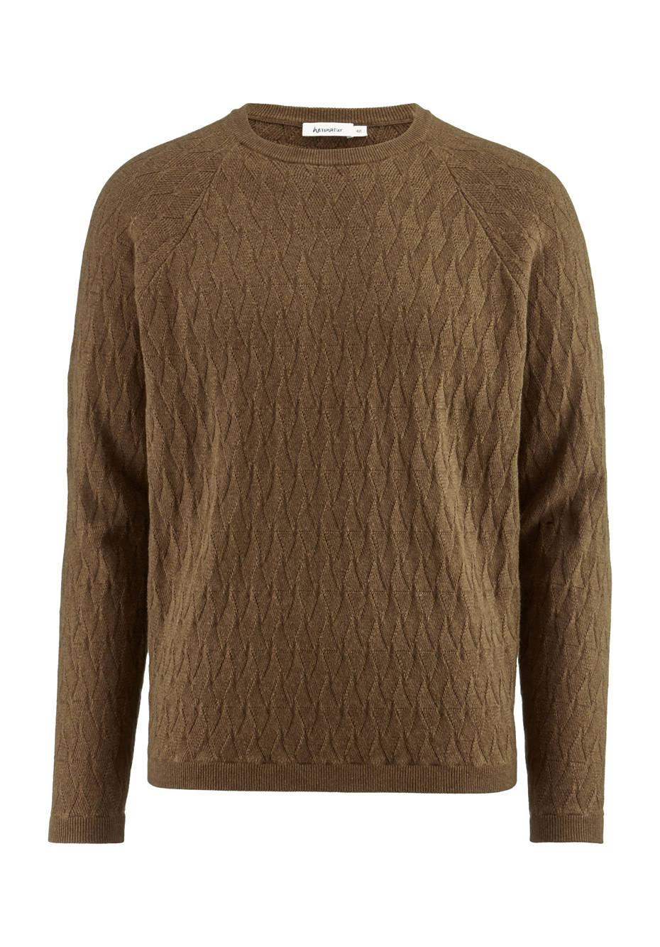 Raglan-Pullover aus Bio-Baumwolle mit Yak