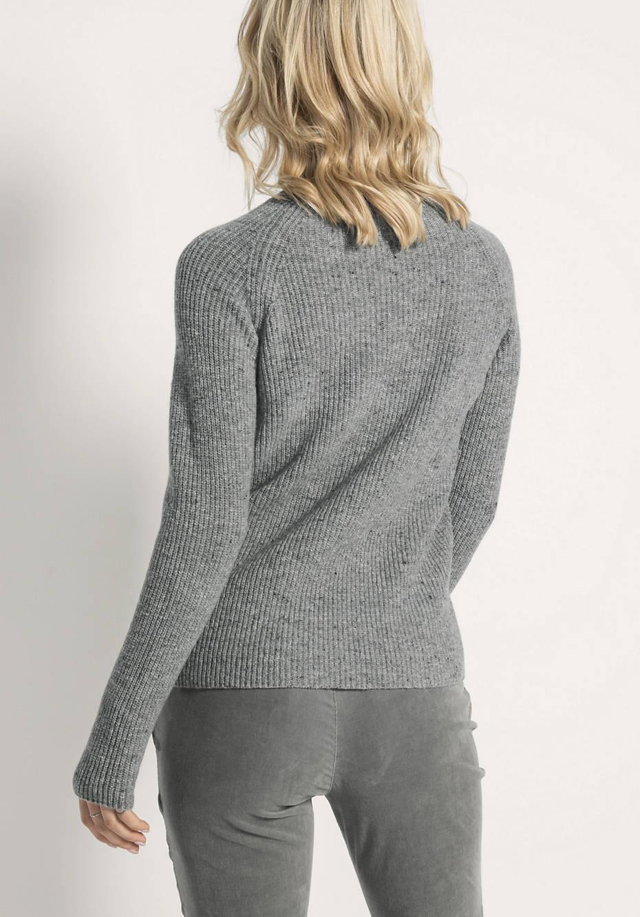 Raglan-Pullover aus Schurwolle und Kaschmir mit Seide