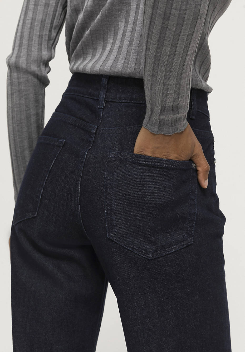 Relaxed fit jeans made of organic wool denim