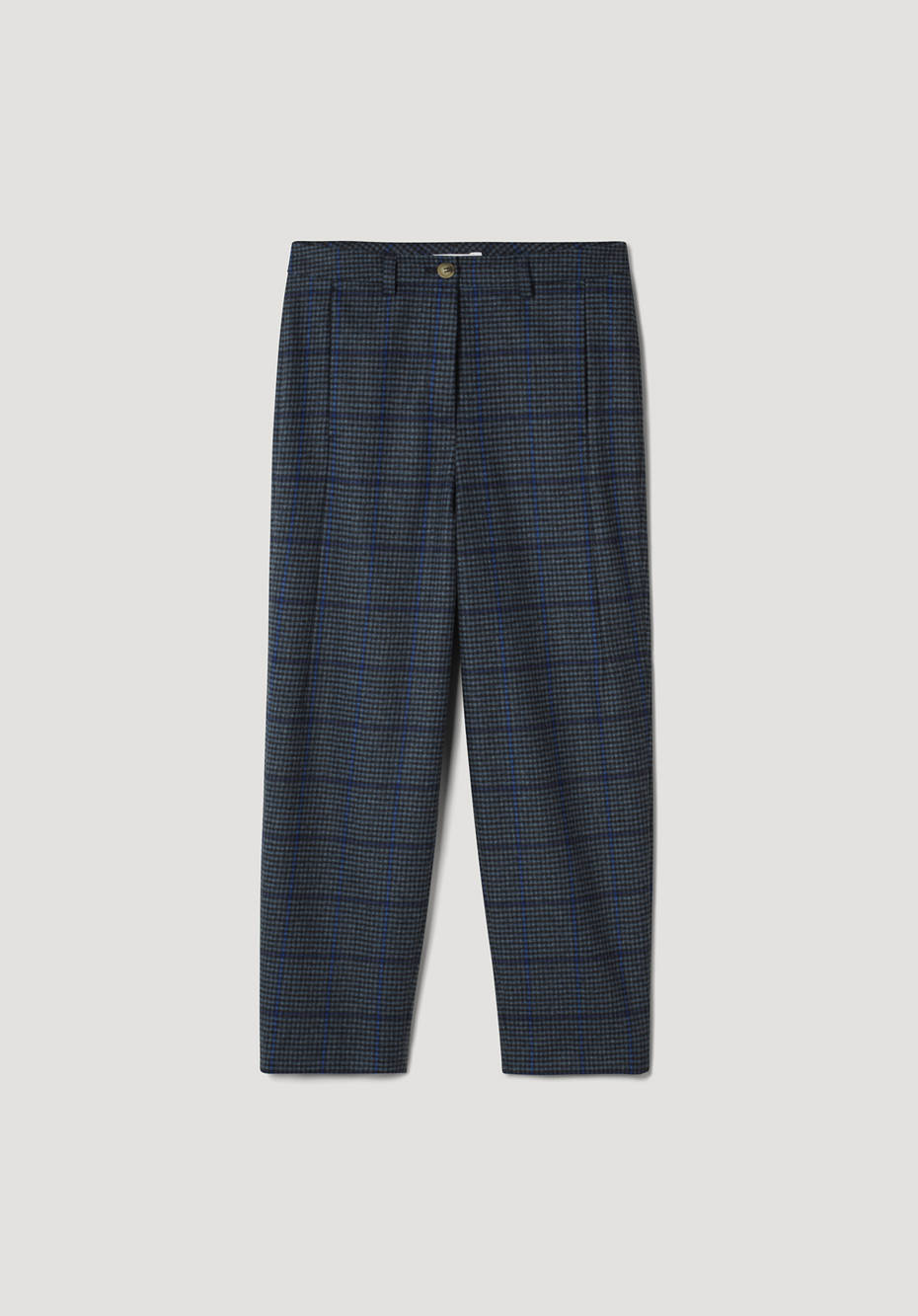 Relaxed fit pants made of pure organic merino wool