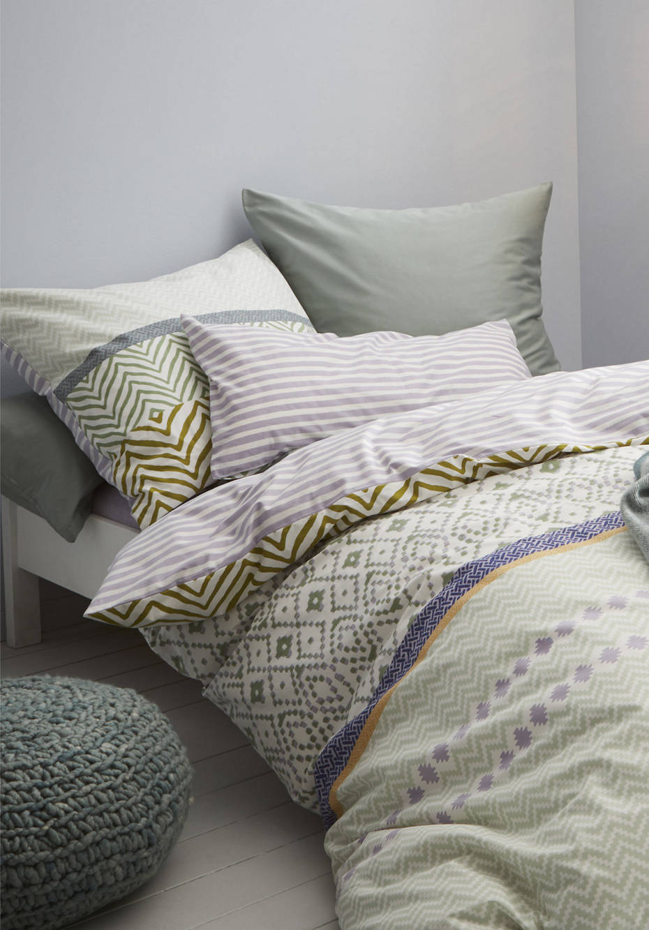 Renforcé reversible bed linen Salamanca made from pure organic cotton