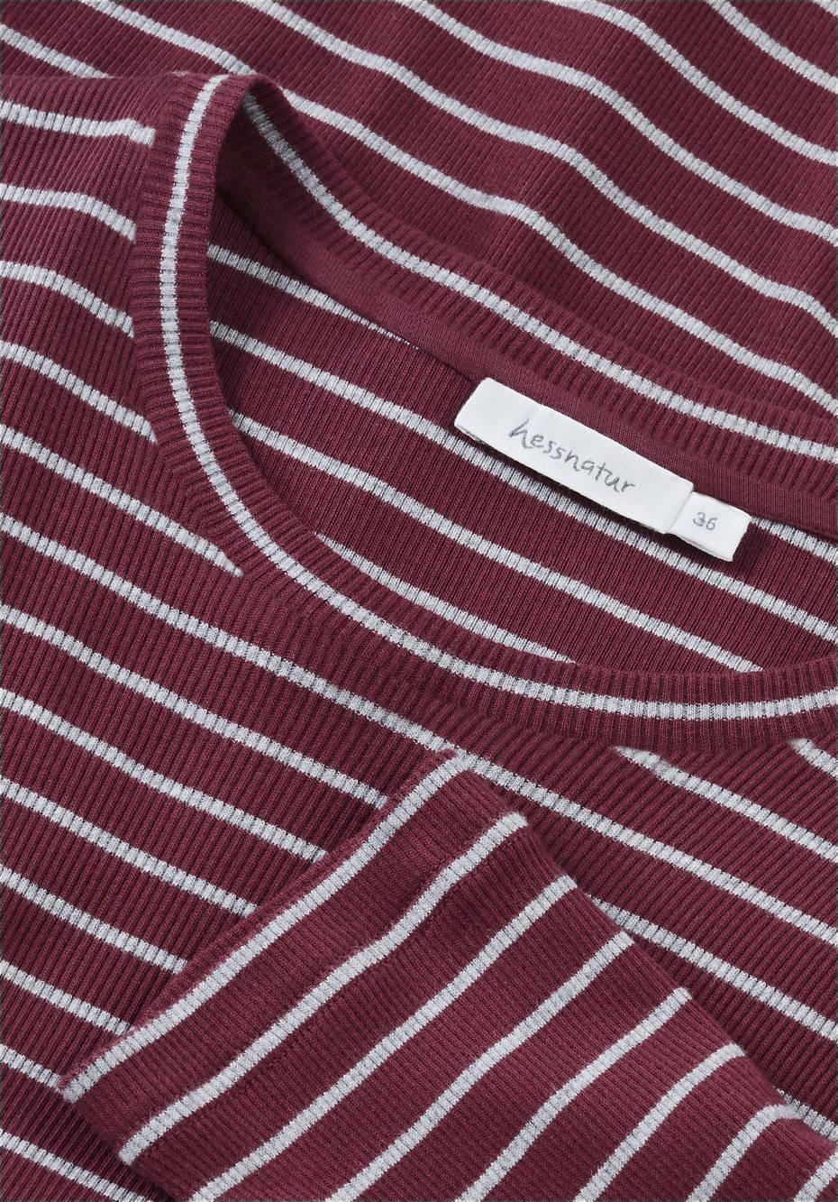 Rippshirt aus reiner Bio-Baumwolle