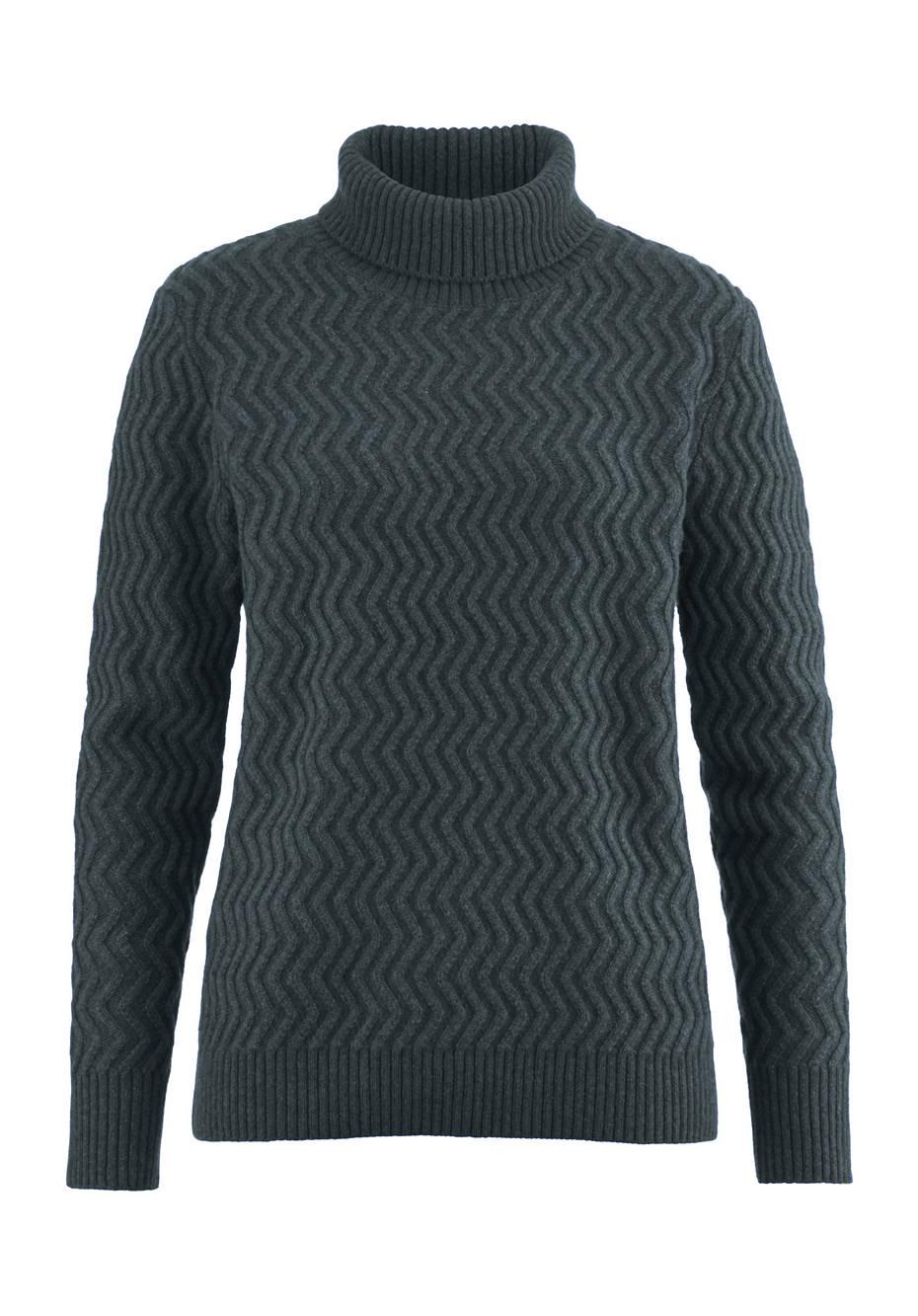 Rollkragen-Pullover aus Schurwolle und Yakwolle