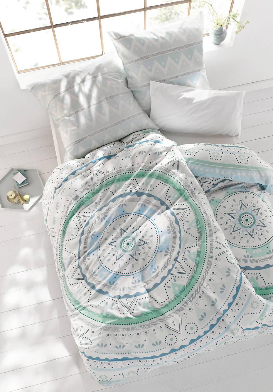 Satin-Bettwäsche Lisboa aus reiner Bio-Baumwolle