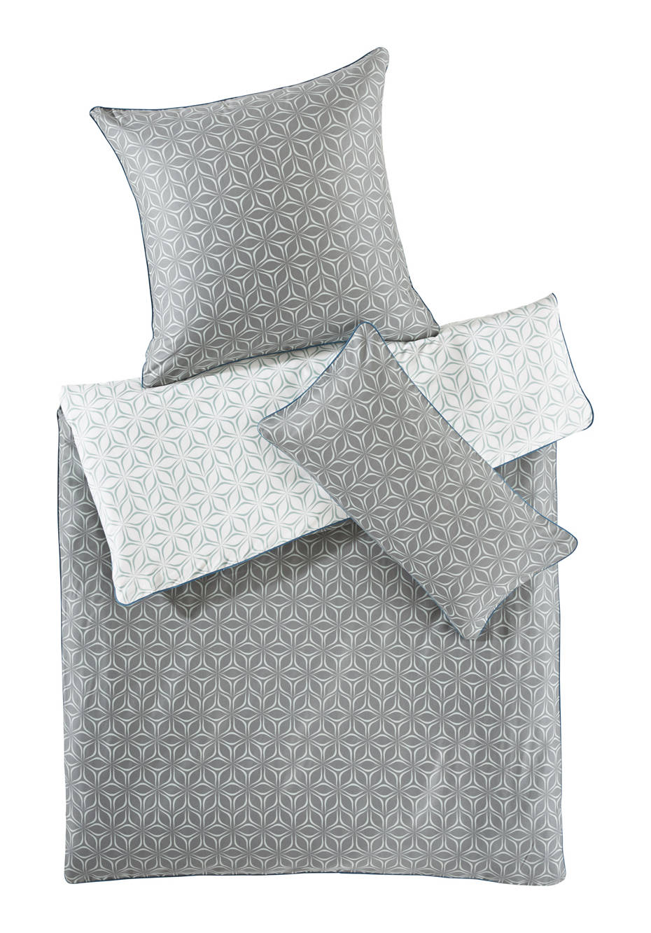 Satin-Bettwäsche Meikai aus reiner Bio-Baumwolle
