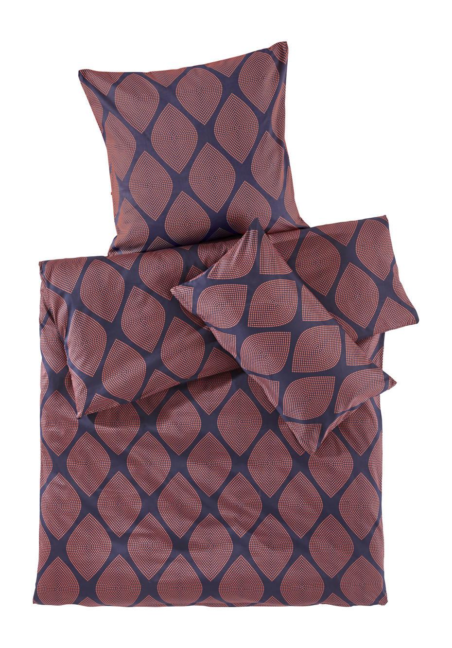 Satin-Bettwäsche Rettangoli aus reiner Bio-Baumwolle