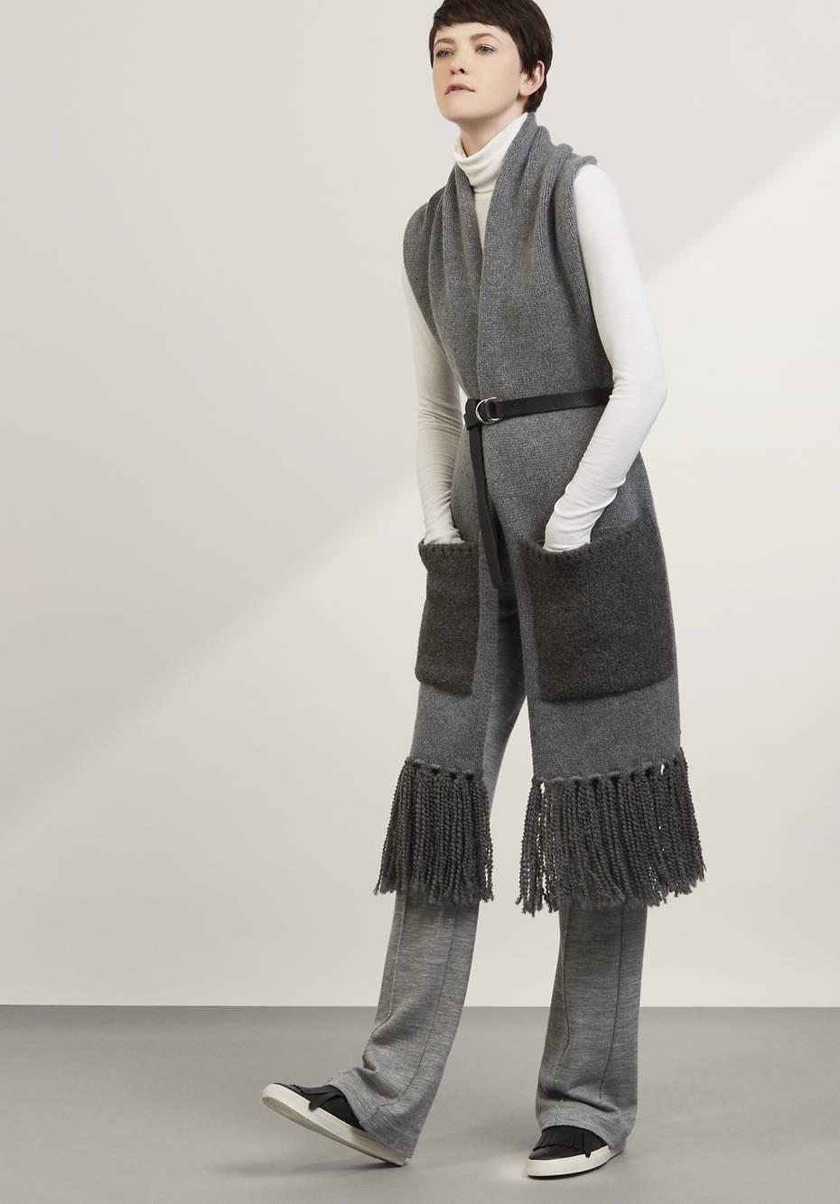 Schal aus Lambswool mit Alpaka