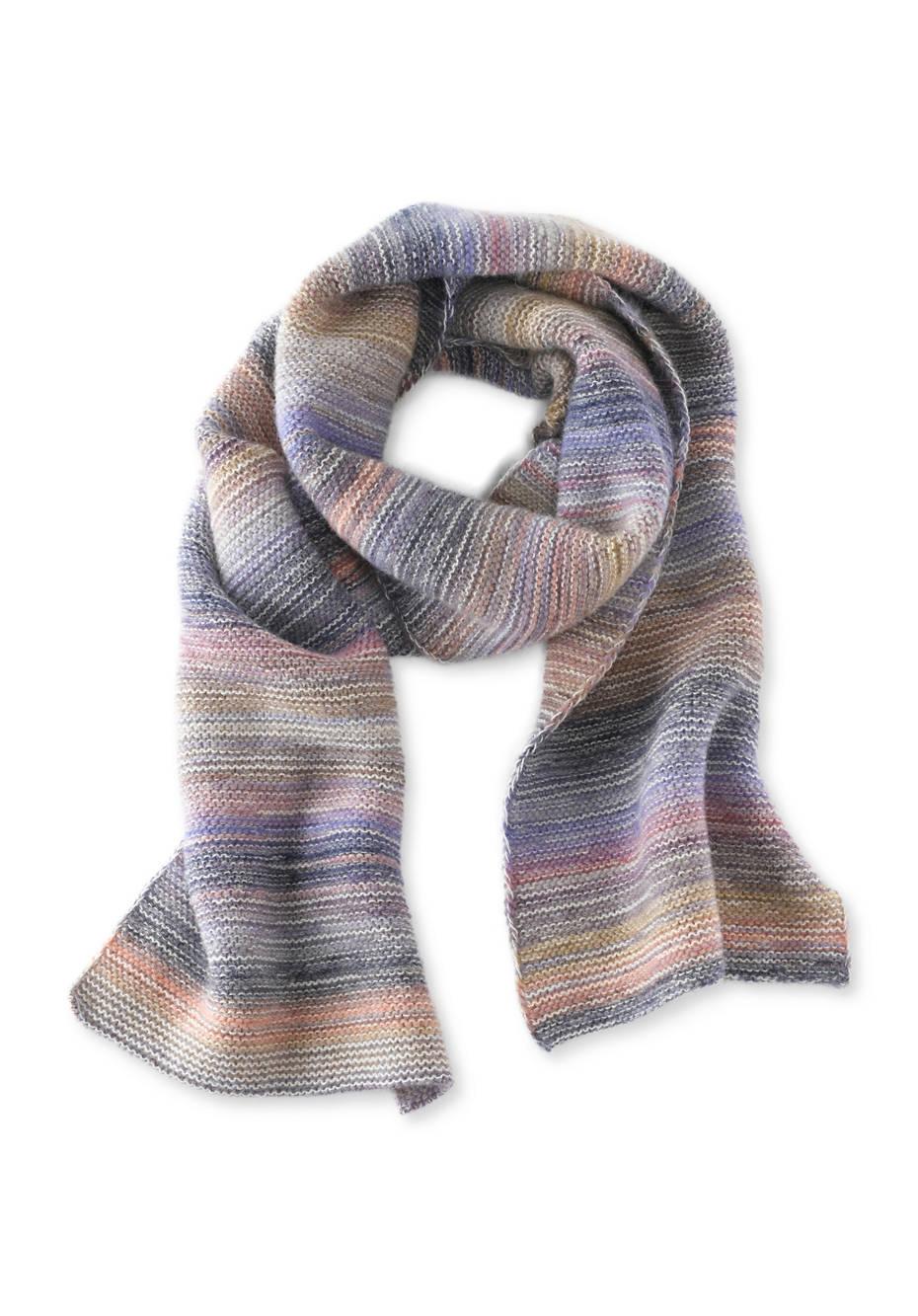 Schal aus Schurwolle mit Alpaka